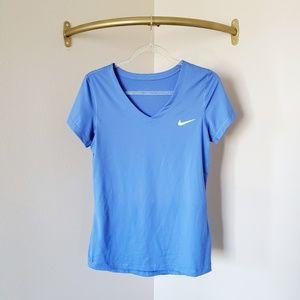 Nike Dri Fit Blue Short Sleeve Top L